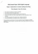 AQA GCSE SAM Language Paper 1