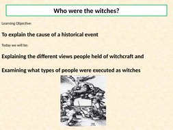 AQA A Level: NEA Component 3: Witchcraft c 1560-1660, Lesson 3 - Who were  the witches?