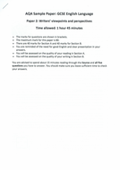 AQA GCSE SAM Language Paper 2