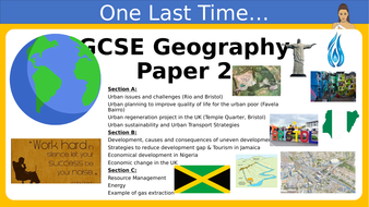 GCSE Geography Paper 2 Revision Powerpoint
