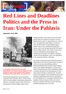 Ezine article: Red Lines and Deadlines. Politics and the Press in Iran under the Pahlavis