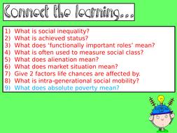 how does social class affect life chances