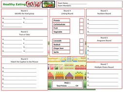 Healthy-Eating-Answer-Sheet.pptx