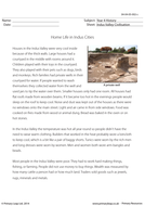 History Resource: Reading comprehension - Home Life in Indus Cities