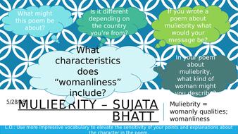 Muliebrity - Sujata Bhatt