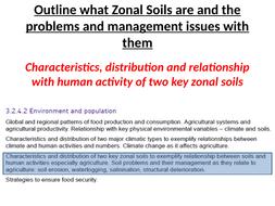 Zonal Soils and Human Activity