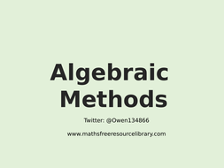 1)-Algebraic-Methods.pptx