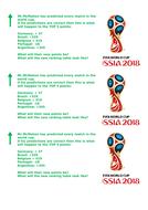 FIFA 2018 WORLD CUP WORKSHEET WITH MARK SCHEME