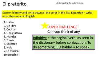 The Preterite Tense (regular AR verbs)