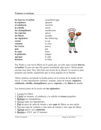 Vamos a cocinar Lectura - Spanish Reading on Cooking (Informal Commands)