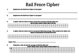 IGCSE Rail Fence Cipher Encryption/Decryption Task