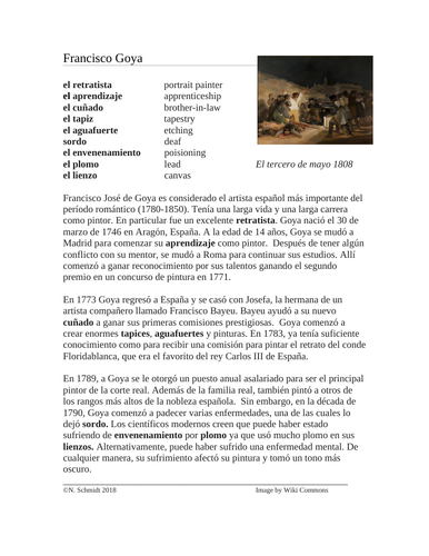 Francisco Goya Biografía: Spanish Biography on a Romantic Period Painter