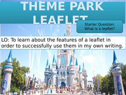 Writing a Leaflet: Theme Park