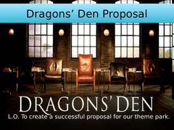 Persuasive Writing: Dragons' Den