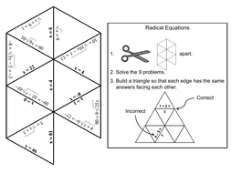 Solving Radical Equations Game Math Tarsia Puzzle By Sciencespot