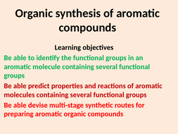 Organic synthesis of Aromatic Compounds