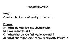 loyalty in macbeth by em  teaching resources loyalty in macbeth