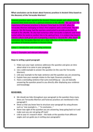 Paragraphing skills and steps reference sheet