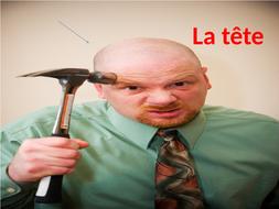 Les parties du corps (body parts in French)2 PPTprésentations avec ou sans mots.