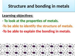 AQA GCSE Chemistry (9-1) Metallic Bonding Whole Lesson