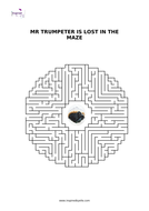 Maze Puzzle - Mr Trumpeter is lost in the maze