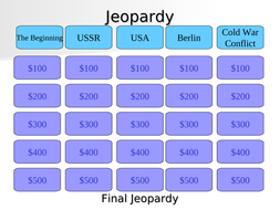 Edexcel GCSE History 9-1 - Cold War Jeopardy Revision Game