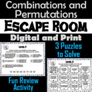Combinations and Permutations Activity: Escape Room Math