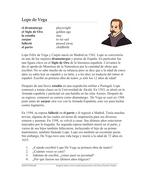 Lope de Vega Biografía: Biography of a Famous Spanish Poet