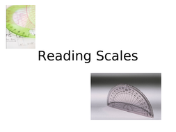 Reading Ruler and Protractor Scale