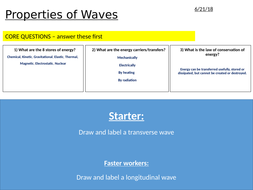 Waves AQA Physics 9-1 Powerpoint + Worksheets