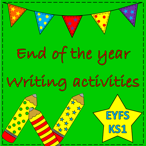 End of the year writing activities- summer writing