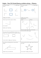 Greater depth Angles Fluency, Varied Fluency , Reasoning and problem solving 16 qs Y3/4 KS2 Geometry
