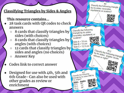 28 Classifying Triangles Task Cards  by Angles & Sides with key