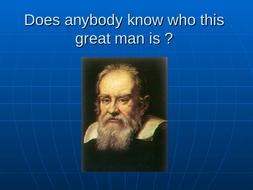 Galileo science study and English link