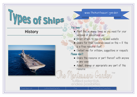 Types of Ships (Classified Cards)