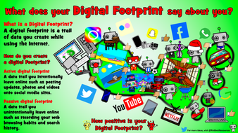 computer science poster digital footprint by robbotresources