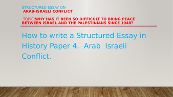 Topics For Proposal Essays Structured Essay On Israeli And Palestinian Conflict Since  Examples Of Essay Papers also How To Write An Essay For High School Students Structured Essay On Israeli And Palestinian Conflict Since  By  Essay Samples For High School Students