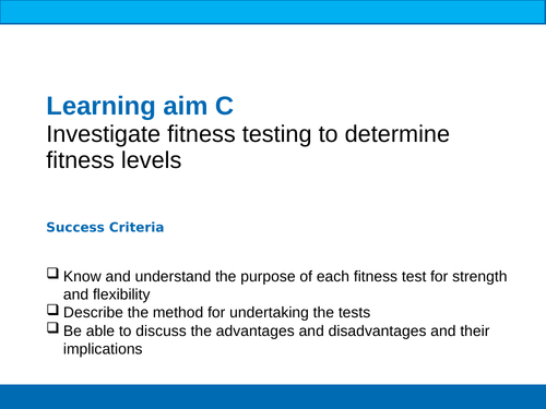 BTEC Sport Unit 1 Fitness Tests Strength & Flexibility