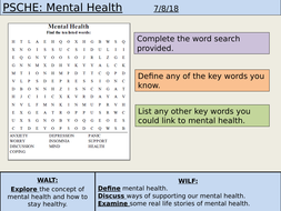 PSHE: Mental Health by lewisdbmitchell | Teaching Resources