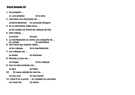 Extr@ en espanol worksheets