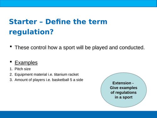BTEC Sport Unit 2 Classification of Sports