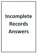 AQA Accounting A-Level (NEW) - 3 14 Accounting for organisations with  incomplete records QUESTIONS