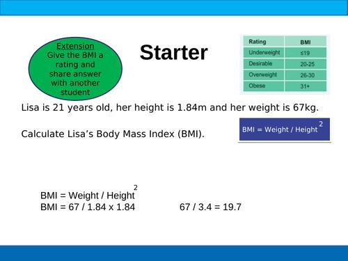 BTEC Sport Unit 5 PARQ & SMARTER Targets