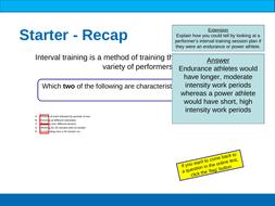 BTEC Sport Unit 5 Training Methods