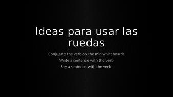 Spanish Verb Wheels For Alevel By Blanca1yshara Teaching