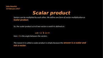 Scalar product