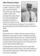 John Thomas Scopes Handout