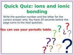 Ions and ionic bonding multiple choice quiz on a powerpoint mj quiz ions and ionic bondingpptx close ions and ionic bonding multiple choice quiz on a powerpoint presentation toneelgroepblik Choice Image