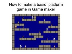how to make a platform game in game maker