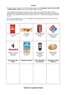 calories by lac7488 teaching resources tes